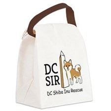 DC Shiba Inu Rescue logo Canvas Lunch Bag