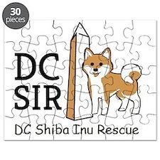 DC Shiba Inu Rescue logo Puzzle