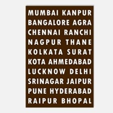 Choco Indian Cities Postcards (Package of 8)