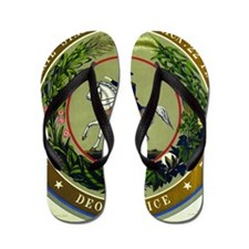 Seal of the Confederacy Flip Flops