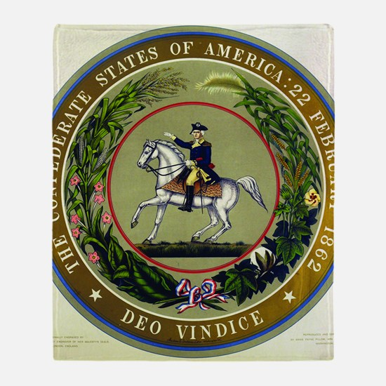 Seal of the Confederacy Throw Blanket