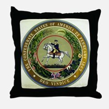 Seal of the Confederacy Throw Pillow