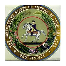 Seal of the Confederacy Tile Coaster