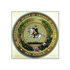 "Seal of the Confederacy Square Sticker 3"" x 3"""
