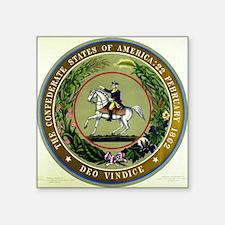 "Seal of the Confederacy Square Sticker 3"" x 3"""