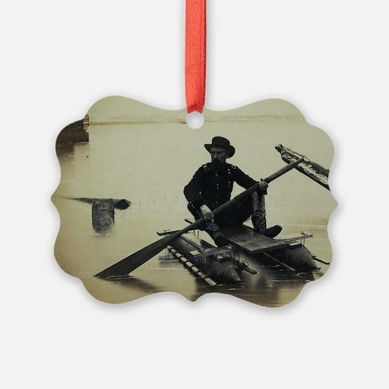 Pontoon Boat Ornament