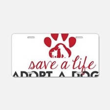 Save a Life Aluminum License Plate