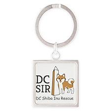 DC SIR Logo small Square Keychain