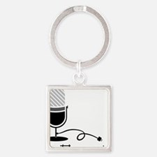 On The Air Square Keychain