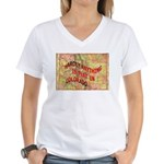 Flat Colorado Women's V-Neck T-Shirt