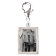 Old Hotel Silver Portrait Charm