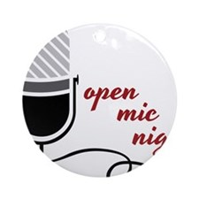 Open Mic Night Round Ornament