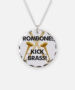 Trombones Kick Brass Necklace