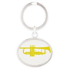 Kiss My Brass! Oval Keychain
