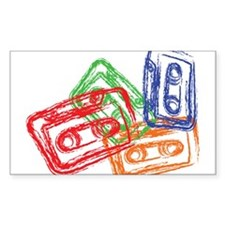 Mix tapes Rectangle Decal