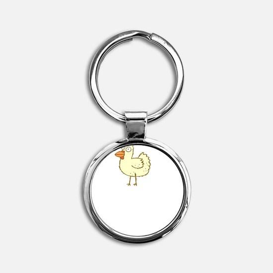 Chicken Motives Round Keychain