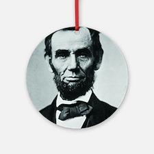 Abraham Lincoln Round Ornament