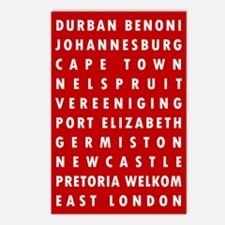 Red SA Cities Postcards (Package of 8)