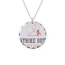 Strike Out Necklace Circle Charm