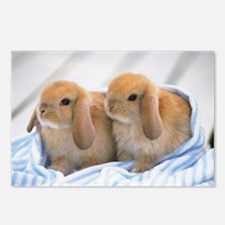 Easter Bunny Greetings Postcards (Package of 8)