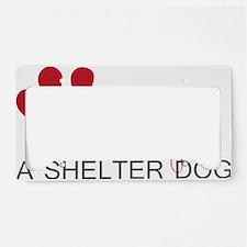 Adopt a Shelter Dog License Plate Holder