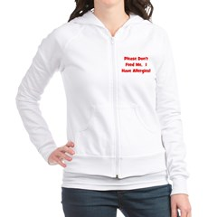 Please Don't Feed Me - Allerg Fitted Hoodie