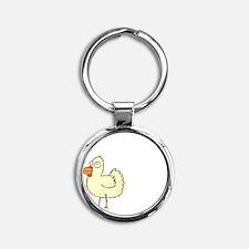 Chicken Butt Round Keychain