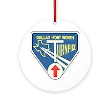 Dallas Fort Worth Turnpike Round Ornament