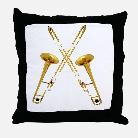 Trombones Kick Brass! Throw Pillow