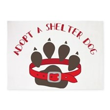 Adopt a Shelter Dog 5'x7'Area Rug