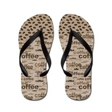 Coffee and Beans Flip Flops