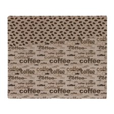 Coffee and Beans Throw Blanket