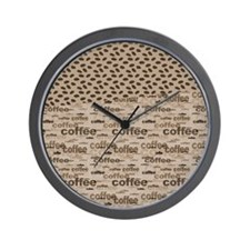 Coffee and Beans Wall Clock