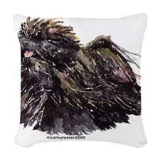 Puli (alone).png Woven Throw Pillow