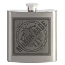 Molon Labe Diamond-Spade (Silver) Flask