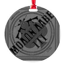 Molon Labe Diamond-Spade (Silver) Ornament