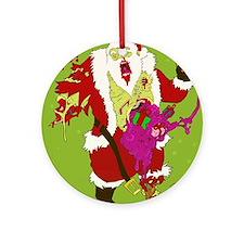 Zombie Santa 2 Round Ornament