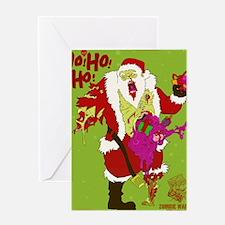 Zombie Santa 2 Greeting Card