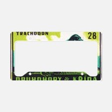 Trachodon Dinosaur Czech Matc License Plate Holder