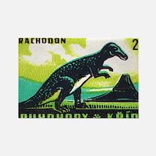 Trachodon Dinosaur Czech Matchbox Rectangle Magnet