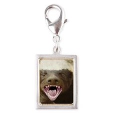 honey badger Silver Portrait Charm
