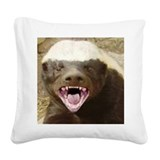 Honey badger Square Canvas Pillows