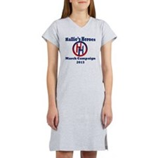 Hallies Heroes Logo Women's Nightshirt