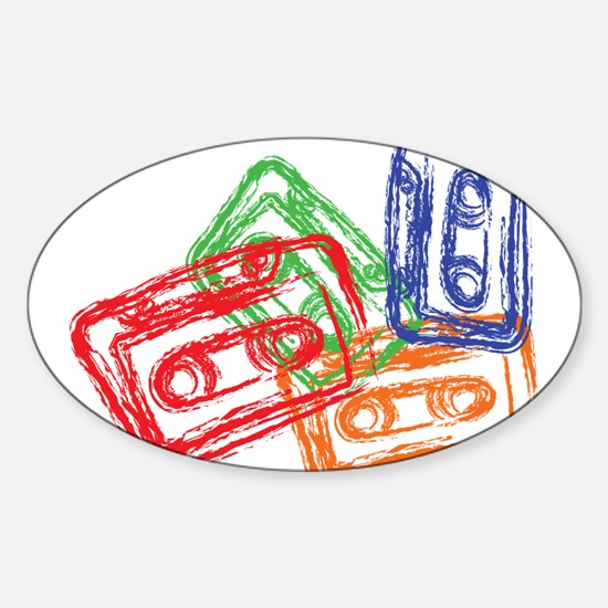 Mix tapes Oval Decal