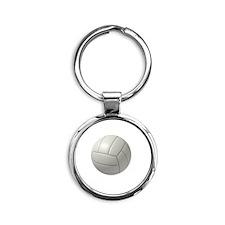 My Life Volleyball Round Keychain