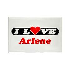 I Love Arlene Rectangle Magnet (10 pack)