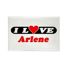 I Love Arlene Rectangle Magnet