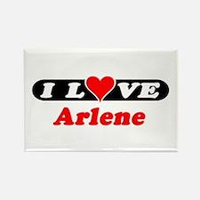 I Love Arlene Rectangle Magnet