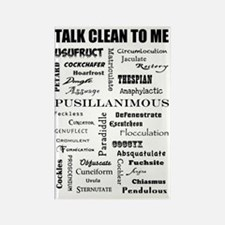 Talk Clean to Me Rectangle Magnet