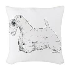 Sealyham_Terrier.png Woven Throw Pillow